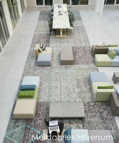 Desso carpet in cooperation with Ex-interiors at the Melkfabriek in Hilversum #interiordesign