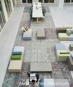 Desso carpet in cooperation with Ex-interiors at the Melkfabriek in Hilversum #interiordesign