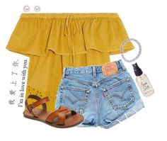 A fashion look from June 2016 featuring Madewell blouses, Levi's shorts and Merona sandals. Browse and shop related looks. Cute Summer Outfits, Spring Outfits, Casual Outfits, Cute Outfits, Summer Clothes, Look Fashion, Fashion Outfits, Womens Fashion, Looks Style