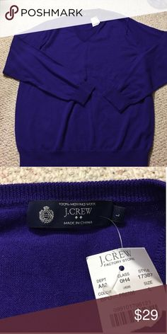 J. Crew FS Merino Wool Sweater 100% Merino wool sweater in beautiful purple color from J. Crew Factory Store. Brand New with Tags J. Crew Sweaters
