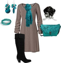 """""""Aqua accents"""" by tnoelle77 on Polyvore"""