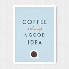 Coffee Kitchen Print Wall Print Wall Decor von happybearprints