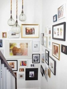 foto frame ideas staircase google zoeken