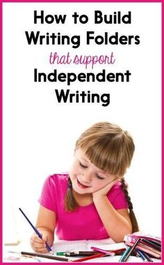 If your kindergarten, first grade, and second grade students need to learn to work more indepently during writing time, writing folders can help! In this post I share my tips, and theres a link to FREE downloads! The free download includes transition word lists, visual writing scaffolds, and a chart of the writing process. Writing Strategies, Writing Lessons, Writing Resources, Writing Activities, Writing Ideas, Writing Journals, Writing Process, Writing Centers, Interactive Journals