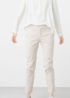 Pantalón traje algodón   MANGO