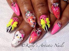 Purrr-ty Pink by KerlysNails - Nail Art Gallery nailartgallery.nailsmag.com by Nails Magazine www.nailsmag.com #nailart