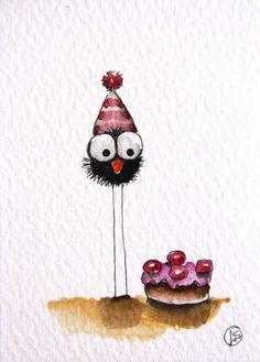 My birthday cake. $18,00, via Etsy.