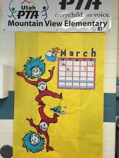 March Dr. Seuss PTA Calendar Bulletin Board