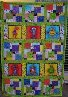 This is a quilt I made for my grandson Logan for Christmas 08. 