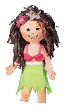 """Piñatas~Hula girl piñata. 8 1/2"""" x 6"""" x 21 3/4"""""""