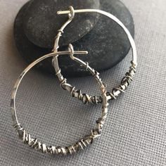 Sterling Silver Wrap Hoops