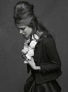 Little Black Jacket:Charlotte Casiraghi.Photo by Karl Lagerfeld