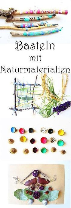 Basteln mit Naturmaterialien… Mal anders:) + Video — Mama Kreativ Crafting with natural materials … times different :] + Video DIY with children in autumn Cheap Fall Crafts For Kids, Easy Fall Crafts, Autumn Activities For Kids, Crafts For Girls, Diy For Kids, Kids Crafts, Diy And Crafts, Rock Crafts, Homemade Crafts