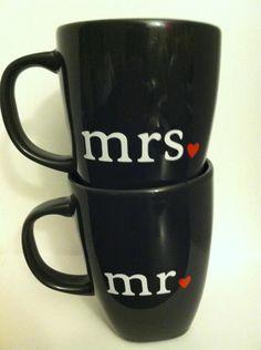 Set of Mr. and Mrs. Coffee Mugs