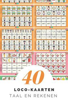 40 loco-kaarten waarbij diverse doelen van rekenen en taal worden geoefend. Een deel van deze serie is ontwikkeld rondom de thema's sinterklaas en kerst.