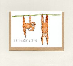 I LOVE HANGiN' WiTH YOU GRANDAD . fathers day birthday thank you . also dad pa pop grandpa uncle custom Belated Birthday, Birthday Thank You, Funny Birthday Cards, Friend Birthday, Sympathy Cards, Greeting Cards, Easter Greeting, Easter Card, Sloth Drawing