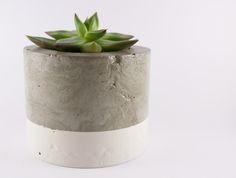 Dipped cement planter pot - white | Felt