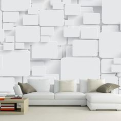 Wallpaper Mural Cubes Abstract Wall Paper Non-woven for Living Room TV Background Wall Decor papel de parede moderna White. Category: Home Improvement.
