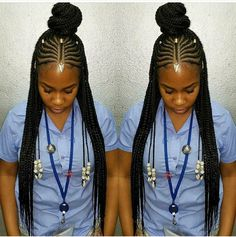 87 Cornrow Hairstyles for Black Women Ideas in Next time you're stuck trying to think up new ideas for your natural hair, try one of these stunning looks. Whether you have short hair, long braids, ., Cornrow Hairstyles for Black Women Black Girl Braids, Braids For Black Hair, Girls Braids, Box Braids Hairstyles, Short Hairstyles, Hairstyles Pictures, Hairstyles 2016, Protective Hairstyles, Hairstyle Ideas