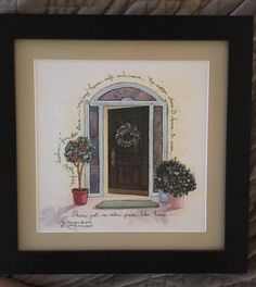 D Morgan Pencil Signed Framed Print There's Just No Other Place Like Home  | eBay