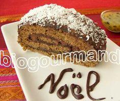 BUCHE de NOEL SANS GLUTEN au parfum des îles - Blog cuisine bio - Recettes bio Cuisine bio sans gluten sans lait