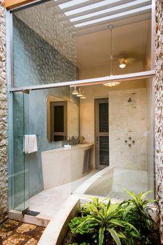 Koloniale badkamers van Taller Estilo Arquitectura