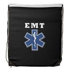 EMT Star of Life Drawstring Backpacks