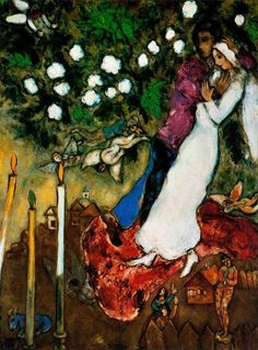 Chagall, Marc - The Opposition - Ecole de Paris - Abstract - Oil on canvas