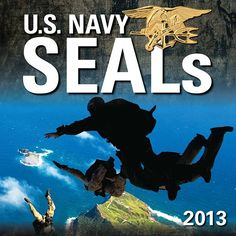 "U.S. Navy SEALs 2013 provides an up-close and personal look at this legendary elite fighting force. Featured are photographs of SEALs in action. The term ""SEAL"" is derived from these special operations warriors' ability to operate on the sea, air, and land.  $13.99  http://calendars.com/Patriotic/US-Navy-SEALs-2013-Wall-Calendar/prod201300001923/?categoryId=cat00377=cat00377#"