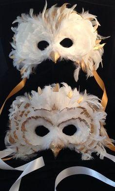 The Golden Custom Owl by MaskedEnchantment on Etsy