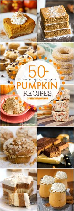 Top 50 Pumpkin Recipes…These are amazing! Top 50 Pumpkin Recipes…These are amazing! Pumpkin Recipes, Fall Recipes, Holiday Recipes, Fall Baking, Holiday Baking, Halloween Baking, Yummy Treats, Sweet Treats, Yummy Food