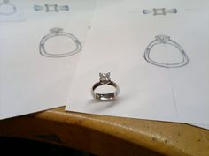 And its done, love making small platinum rings for big diamond's