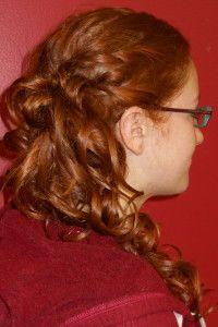 Side-swept low curls