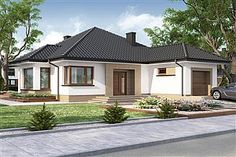 Look at all of this for another thing completely. Bungalow Homes Renovation Modern Bungalow Exterior, Modern Bungalow House, Bungalow Homes, Cottage Style Homes, Village House Design, Village Houses, Style At Home, Bungalow Haus Design, Beautiful House Plans