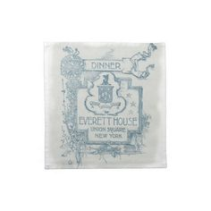 Dinner Napkins - Vintage Menu Cover  Cloth napkins – set of 4. Beautiful cotton napkins decorated with a vintage restaurant menu co...