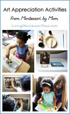 Montessori art appreciation activities for a variety of ages from toddlers through elementary age. Materials used were from the Montessori By Mom Art Appreciation Toolbox.
