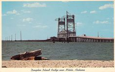 Draw Bridge to Dauphin Island  FISHED FROM THIS VERY BRIDGE WITH MY FATHER  MANY TIMES