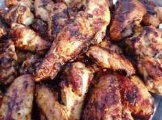 Grilled wings. Very good. Added a little sriracha and red pepper flakes to the marinade for a bit of spice.
