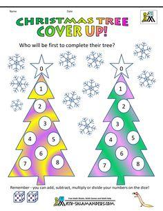 christmas maths games tree cover up Christmas Maze, Christmas Board Games, Christmas Word Search, Christmas Trivia, Christmas Games For Family, Christmas Puzzle, Christmas Words, Christmas Math Worksheets, Printable Christmas Games