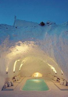 Spa cave, Santorini, Greece