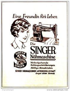 Original-Werbung/ Anzeige 1930 - SINGER NÄHMASCHINEN - ca. 100 x 140 mm
