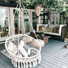 Kinden Hanging Cotton Rope Macrame Hammock Chair Macrame Swing 265 Pound Capacity Handmade Knitted Hanging Swing Chair for Indoor/Outdoor Home Patio Deck Yard Garden Reading Leisure Lounging Hanging Swing Chair, Swinging Chair, Macrame Hanging Chair, Hanging Chairs, Hammock Swing Chair, Woven Chair, Swing Beds, Rope Hammock, Bedroom Swing Chair