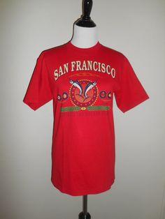 80s 90s Vintage SF San Francisco Golden by ATELIERVINTAGESHOP