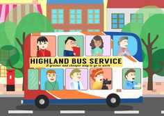 Take a bus to work http://www.livwanillustration.com