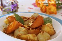 Salteado largo de verduras con piñones http://www.mireiagimeno.com/recetas/salteado-largo-de-verduras-con-pinyones