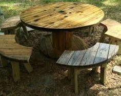 Spool table benchs