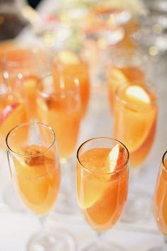 Signature cocktail: Cider bellini.