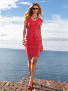 cap sleeve pink dress | Fabiana Semprebom for Peter Hahn Spring-Summer 2013