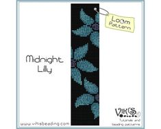 20 best square stitch loomed patterns images on pinterest bead loom bracelet pattern midnight lilly instant download pdf special savings with coupon codes fandeluxe Gallery