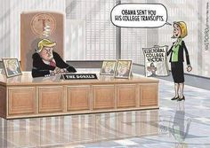 Donald Trump receives Obama's college transcripts.